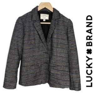 BOGO Lucky Brand Black Striped Blazer Size 2